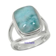 Серебряное кольцо Ювелирные изделия природных Larimar (YR00124)