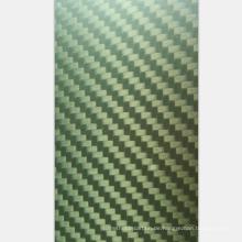 Leistungsfähige reale Twill matte Kohlenstoff-Faser-Gelb-Kevlar-Blätter für Automobilindustrie