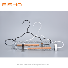 EISHO Kids Wood Metal Hanger With Clips
