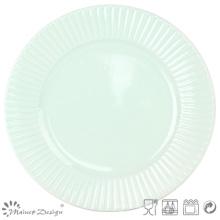 "10.5"" Green Ceramic Dinner Plate Manufacture"