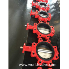 Lug Butterfly Valve Without Pin in Red Colour