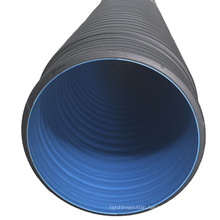 hdpe double wall  plastic corrugated pipe line
