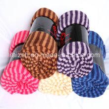 Korallen Fleece gefranst Handtuch Decke Multifunktionstuch