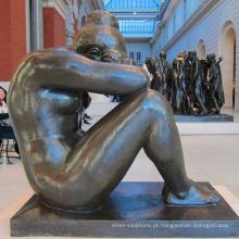 parque temático escultura metal jardim feminino nu bronze estátua de arte