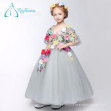 Hand Made Flowers Ball Gown Cute Little Flower Girl Dresses