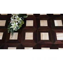 Surprising Combination Indonesia Rosewood Mixed Imported Marble Parquet Flooring