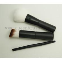 Mini 3PCS Plastic Handle Travel Cosmetic Brush Set