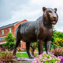 Decoração de jardim de alta qualidade em bronze tamanho vida tigre esculturas