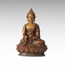 Buddha Statue Sakyamuni Sitting Bronze Sculpture Tpfx-B43