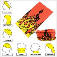 Promotional Polyester Microfiber Custom Printed Multifunctional Seamless Tubular Bandana