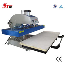 Machine pneumatique approuvée de presse de la chaleur de la CE pour le T-shirt