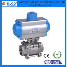 single acting pneumatic actuator ball valve, DN15 KLQD brand