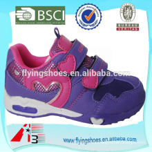 2015 girls sports pu shoes face leather with heart