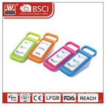 Plastic grater with container and handle