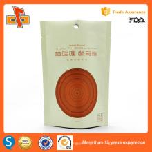 OEM impressão laminado plástico zip lock resealable permanente bolsa