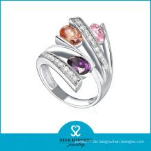 Bunte Kristall Sterling Silber Index Finger Ringe
