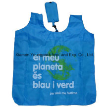 Kundenspezifische Werbung Eco Friendly Recycling Folding Nylon Shopping Tragetasche