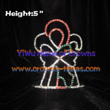 5inch Crystal Candy Cane Christmas Crowns
