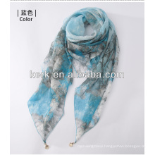 2014 Wholesale Fashion Cheap Female Knitted 100% Polyester Scarves,W3017
