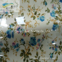 PVC Laminated Printed Micro Peach Skin Fabric For Upholstery