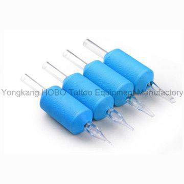 Poignées jetables de silicone de haute qualité de 25mm avec des bouts clairs