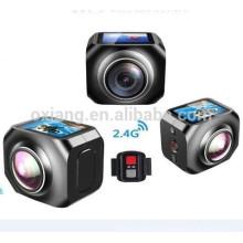 12МП/360VR Водонепроницаемый Спорт DV 1440р/30fpsAction камеры с WiFi Watech пульт дистанционного управления 220 градусов беспроводной видео камеры