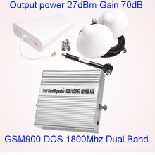 Dual-Band GSM 900 1800 Repeater Mobile Signal Amplifier Cell Phone Service Booster