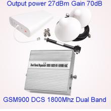 Двухдиапазонный GSM 900 1800 Repeater Мобильный усилитель сигнала сотового телефона