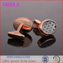 VAGULA luxe laiton bouton concepteur poignets à boutons de manchettes Gemelos (L51921)