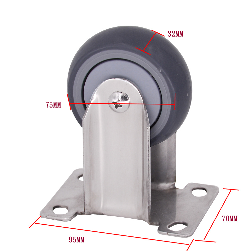 3 Inch Tpr Fixed Caster