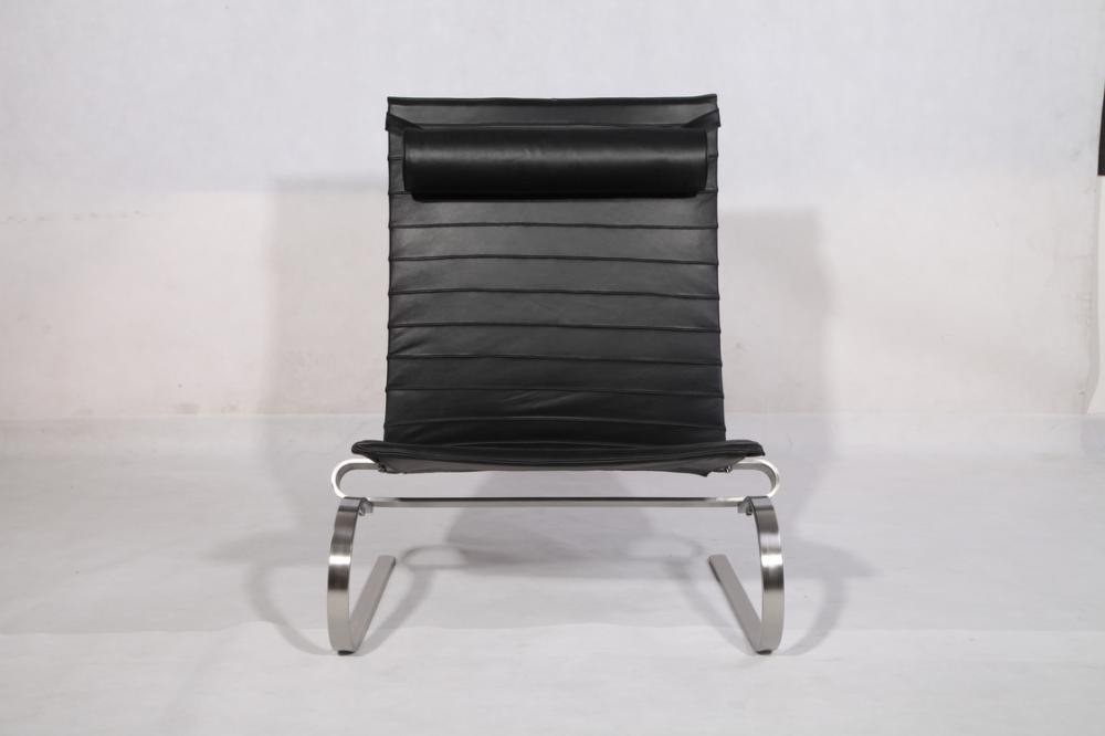 Leather Metal Pk20 Lounge Chairs