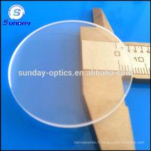 Fenêtre optique adaptée aux besoins du client de verre de saphir, de haute qualité