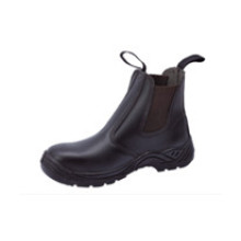Ufb016 No Lace Black Safety Boots
