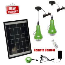 2014 China caliente hecha lámpara de célula Solar Control remoto con cargador USB
