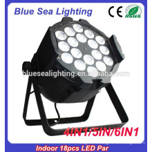 Полный цвет par rgbw 18pcs 12w 4in1 закрытый светодиод par light DMX512