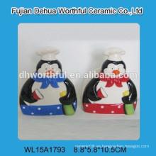 Cerámica encantador pingüino de cerámica titular servilleta sanitaria