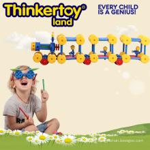Bloc de construction de jouets créatifs pour enfants en forme de train