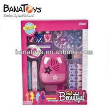 Funny plastic electric beauty set girls toys