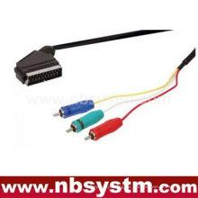 Scart-Stecker auf 3x rca Komponente rgb Kabel