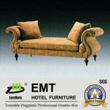 Sofá moderno del mobiliario del hotel moderno del diseño fijado (EMT-SF41)