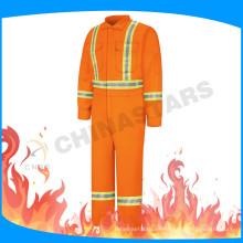 FR cinta fluorescente naranja ignífuga coverall