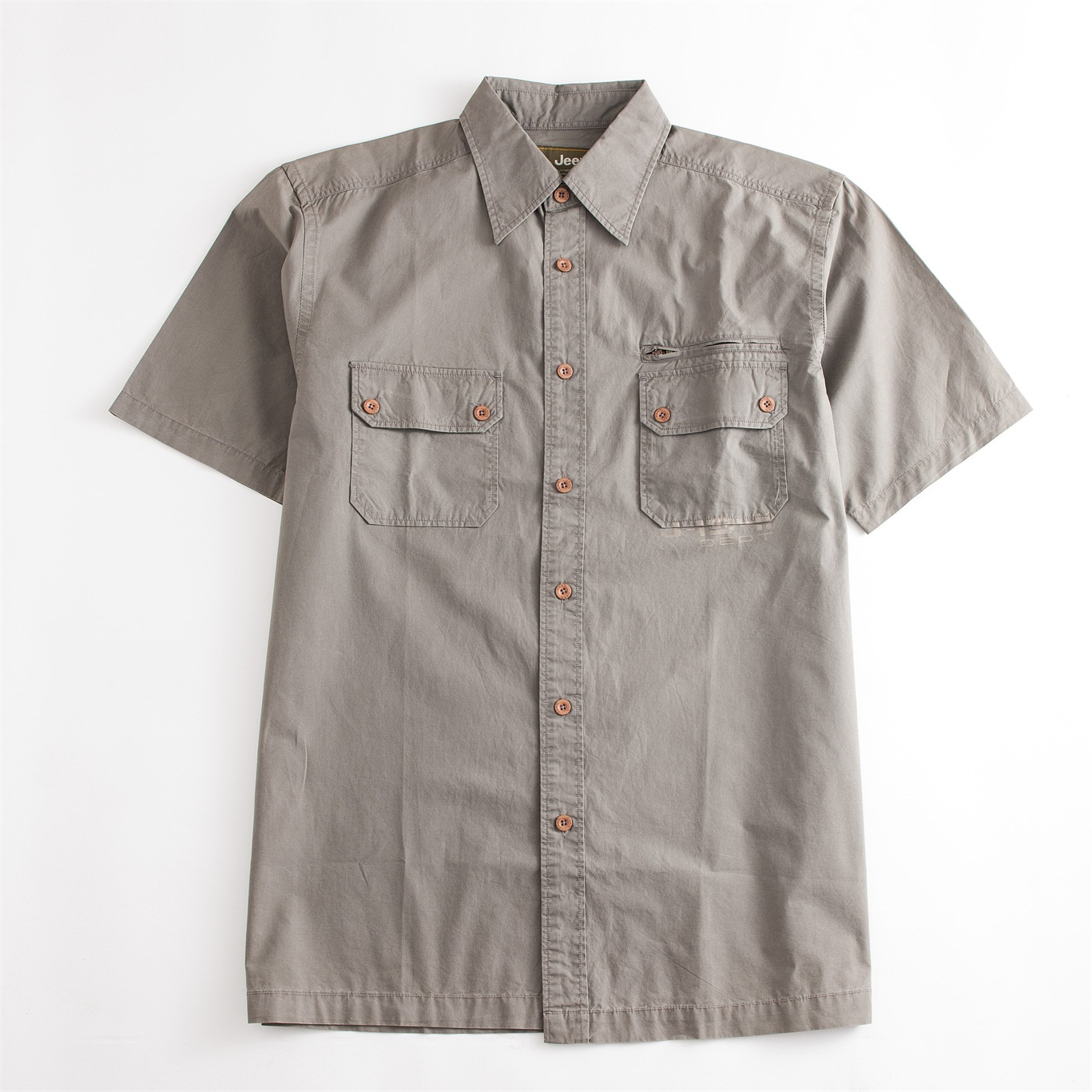 Skin-friendly Short Sleeve Regular Fit Shirt