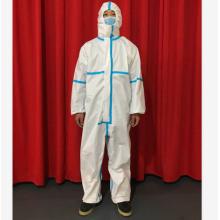 combinação médica descartável estéril branca dos vestidos de proteção