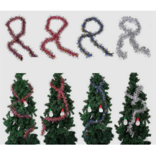 Adorno colgante de oropel de árbol de navidad