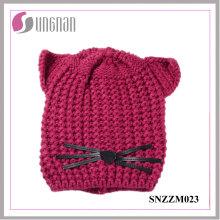 Hochwertige warme kreative Katze Ohr Hut Wolle gestrickte Helm (SNZZM023)