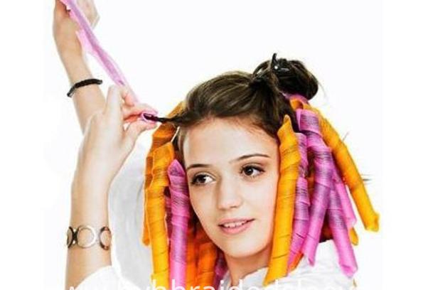 Braided curling hair band portable