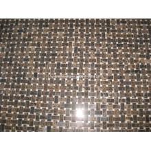 Dark Emperador Basketwave Marble Mosaic Tile Stone Mosaic (HSM131)