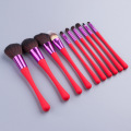 2020 Private Label Gold Rote Make-up Pinsel Set