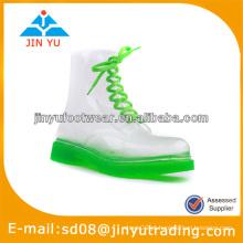 Moda pvc botas de chuva transparente