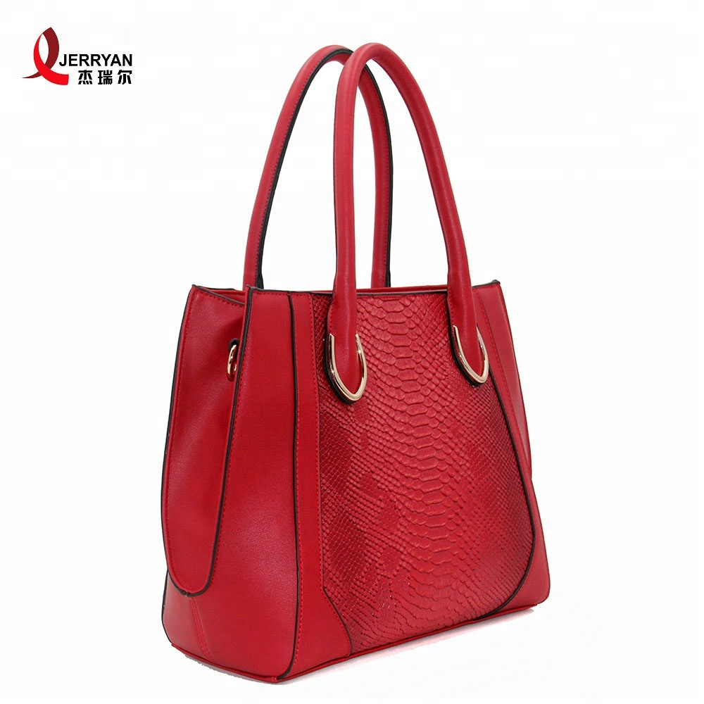 red leather handbags